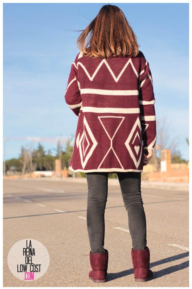 la reina del low cost pilar pascual del riquelme color burgundy vino burdeos de pies a cabeza zaragoza tienda online ropa facebook barato primark mulaya (3)