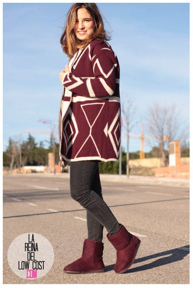 la reina del low cost pilar pascual del riquelme color burgundy vino burdeos de pies a cabeza zaragoza tienda online ropa facebook barato primark mulaya (5)