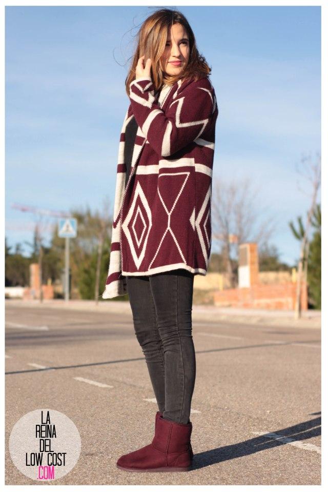 la reina del low cost pilar pascual del riquelme color burgundy vino burdeos de pies a cabeza zaragoza tienda online ropa facebook barato primark mulaya (7)