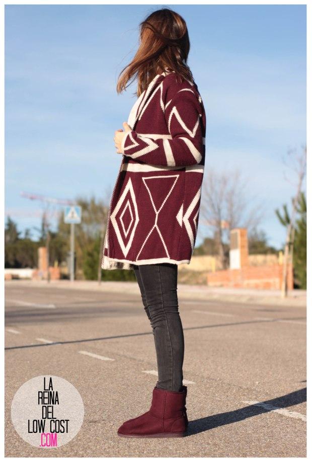 la reina del low cost pilar pascual del riquelme color burgundy vino burdeos de pies a cabeza zaragoza tienda online ropa facebook barato primark mulaya