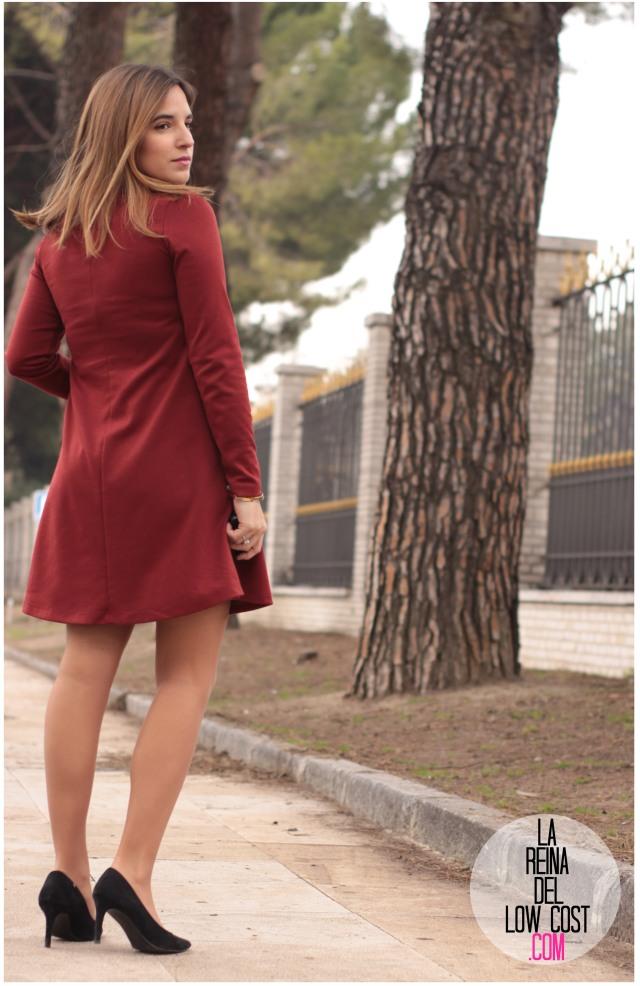 la reina del low cost pilar pascual del riquelme vestido basico teja primavera invierno 2016 manga larga elvestidordelamoda.com collar etnico nephra tienda online complementos envios gratis