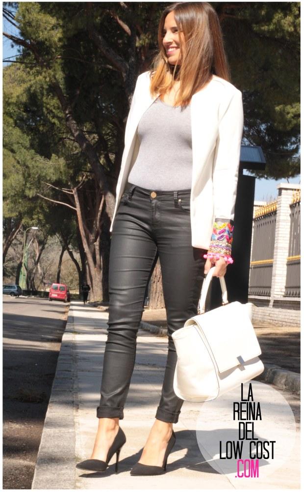 la reina del low cost blazer blanca primavera 2016 look outfit oficina reunion boho etnico chollomoda tienda de ropa online barata pilar pascual del riquelme blogger madrid españa (3)
