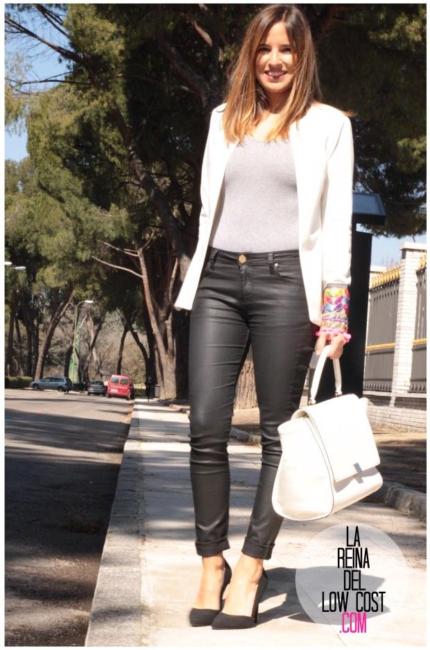 la reina del low cost blazer blanca primavera 2016 look outfit oficina reunion boho etnico chollomoda tienda de ropa online barata pilar pascual del riquelme blogger madrid españa (4)
