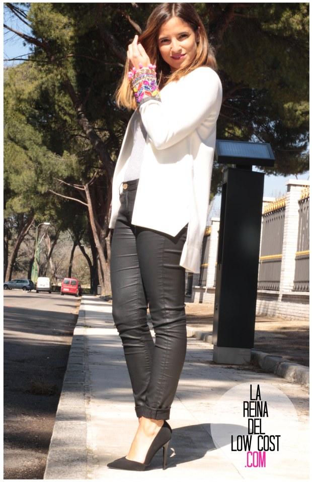 la reina del low cost blazer blanca primavera 2016 look outfit oficina reunion boho etnico chollomoda tienda de ropa online barata pilar pascual del riquelme blogger madrid españa (5)