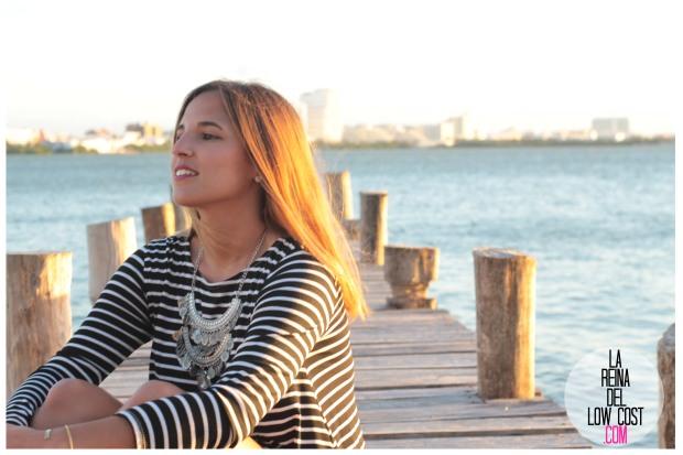 la reina del low cost total look vestido rayas marinero lourdes moreno comprar ropa online primavera 2016 mexico collar etnico nephra blogger españa madrid (10)
