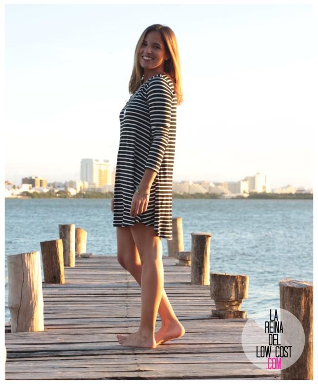 la reina del low cost total look vestido rayas marinero lourdes moreno comprar ropa online primavera 2016 mexico collar etnico nephra blogger españa madrid (12)