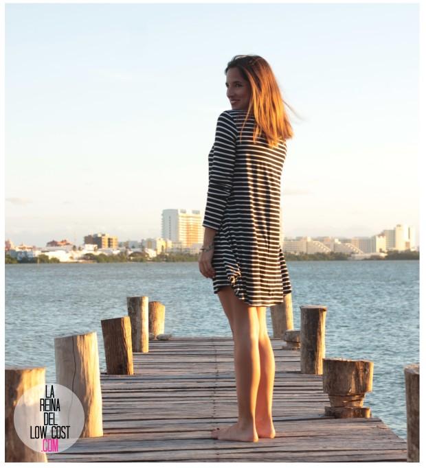 la reina del low cost total look vestido rayas marinero lourdes moreno comprar ropa online primavera 2016 mexico collar etnico nephra blogger españa madrid (14)
