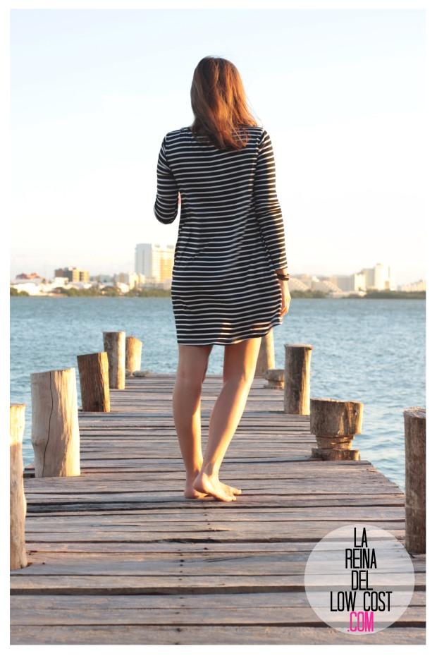 la reina del low cost total look vestido rayas marinero lourdes moreno comprar ropa online primavera 2016 mexico collar etnico nephra blogger españa madrid (8)