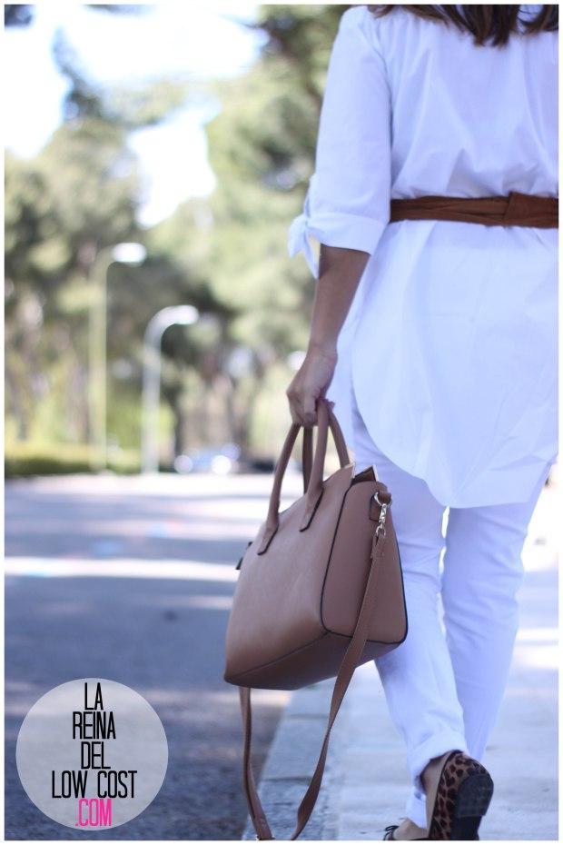 la reina del low cost pilar pascual del riquelme camisa manga lazos embarazada look oficina primavera verano 2016 lourdes moreno tienda online ropa barata pantalones blancos rotos prima