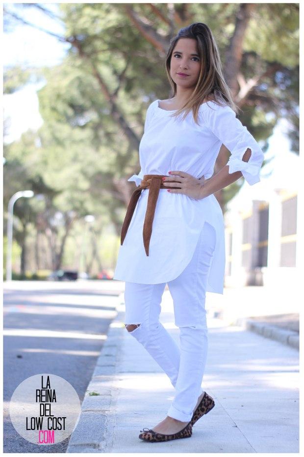 la reina del low cost pilar pascual del riquelme camisa manga lazos embarazada look oficina primavera verano 2016 lourdes moreno tienda online ropa barata pantalones blancos rotos prima (11)