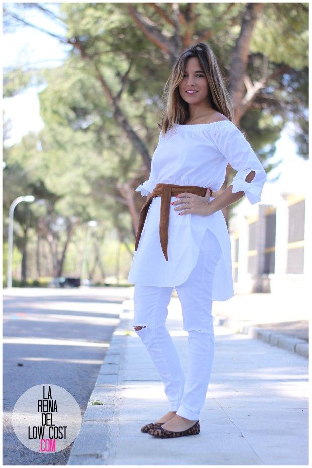 la reina del low cost pilar pascual del riquelme camisa manga lazos embarazada look oficina primavera verano 2016 lourdes moreno tienda online ropa barata pantalones blancos rotos prima (12)