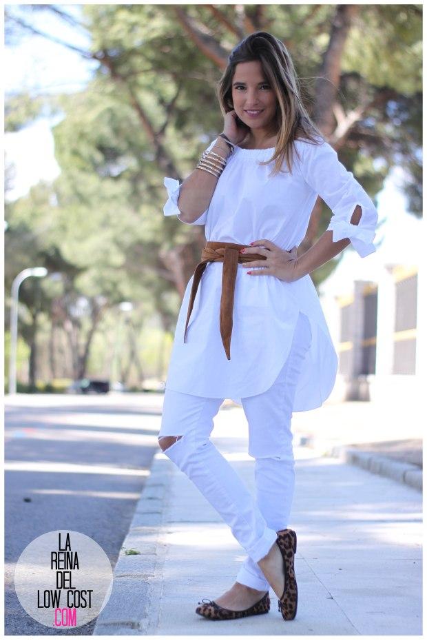 la reina del low cost pilar pascual del riquelme camisa manga lazos embarazada look oficina primavera verano 2016 lourdes moreno tienda online ropa barata pantalones blancos rotos prima (15)