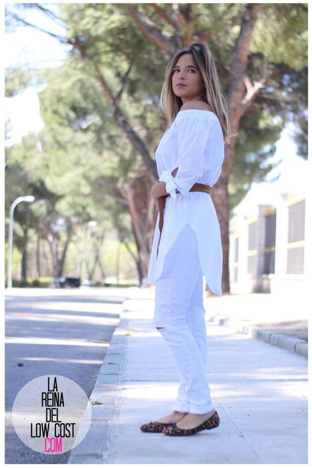 la reina del low cost pilar pascual del riquelme camisa manga lazos embarazada look oficina primavera verano 2016 lourdes moreno tienda online ropa barata pantalones blancos rotos prima (16)