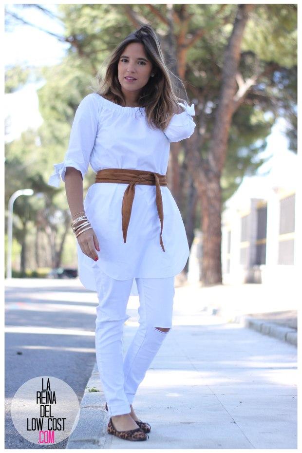 la reina del low cost pilar pascual del riquelme camisa manga lazos embarazada look oficina primavera verano 2016 lourdes moreno tienda online ropa barata pantalones blancos rotos prima (3)