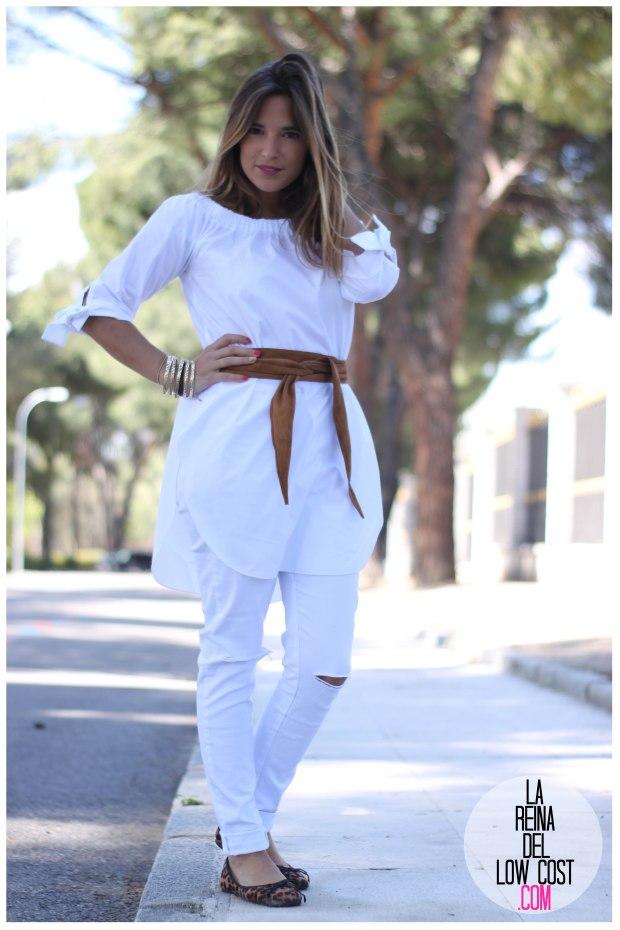 la reina del low cost pilar pascual del riquelme camisa manga lazos embarazada look oficina primavera verano 2016 lourdes moreno tienda online ropa barata pantalones blancos rotos prima (5)