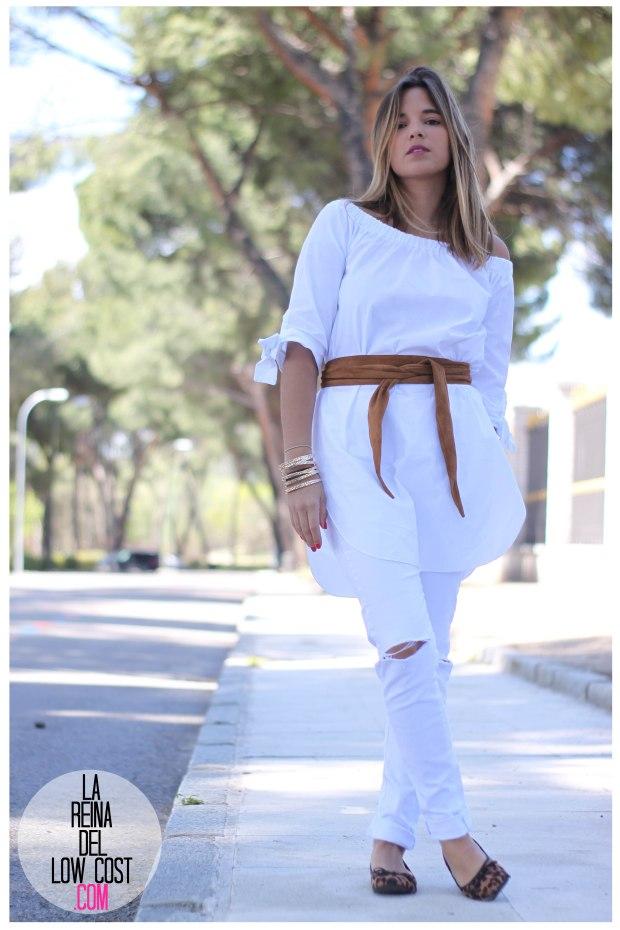 la reina del low cost pilar pascual del riquelme camisa manga lazos embarazada look oficina primavera verano 2016 lourdes moreno tienda online ropa barata pantalones blancos rotos prima (8)