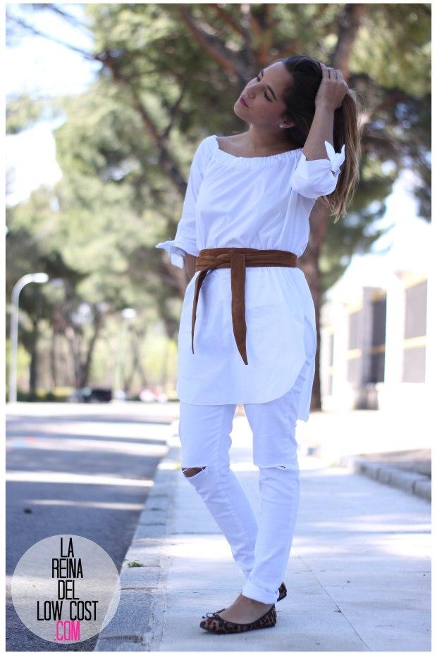 la reina del low cost pilar pascual del riquelme camisa manga lazos embarazada look oficina primavera verano 2016 lourdes moreno tienda online ropa barata pantalones blancos rotos prima (9)