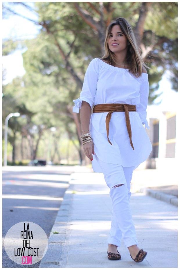 la reina del low cost pilar pascual del riquelme camisa manga lazos embarazada look oficina primavera verano 2016 lourdes moreno tienda online ropa barata pantalones blancos rotos prima (10)