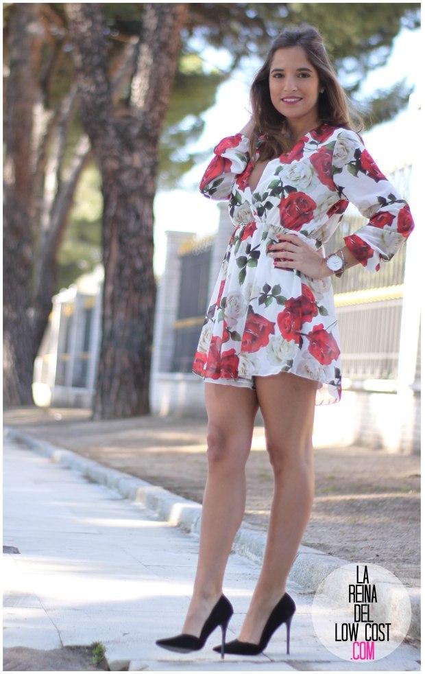 la reina del low cost pilar pascual del riquelme mono flores rosas chollomoda tienda online ropa barata look comuniones 2016 graduaciones becas look cena primavera verano (11)
