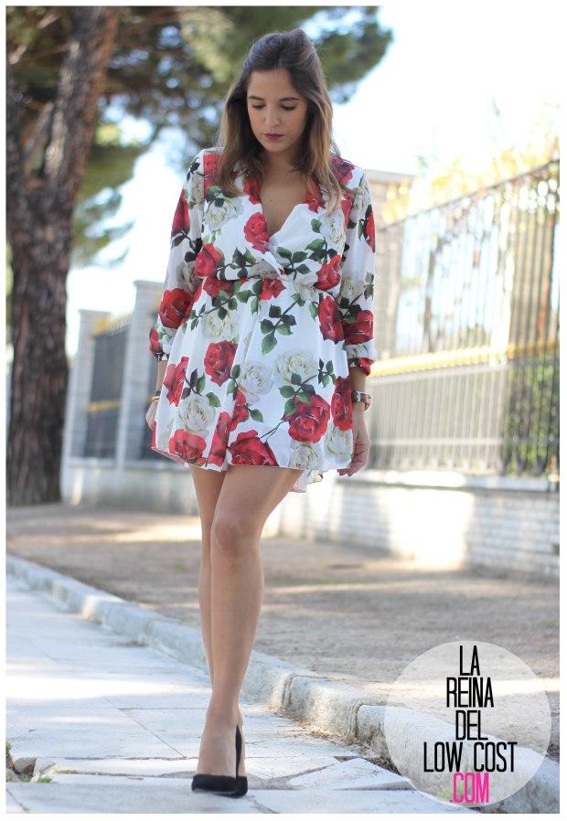 la reina del low cost pilar pascual del riquelme mono flores rosas chollomoda tienda online ropa barata look comuniones 2016 graduaciones becas look cena primavera verano (3)