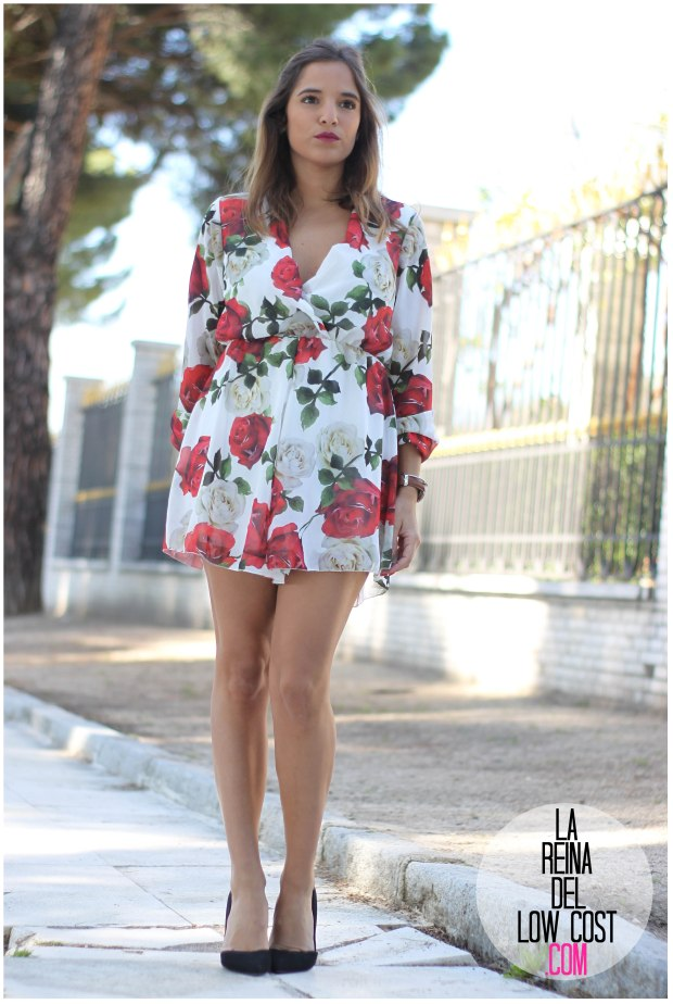 la reina del low cost pilar pascual del riquelme mono flores rosas chollomoda tienda online ropa barata look comuniones 2016 graduaciones becas look cena primavera verano (4)