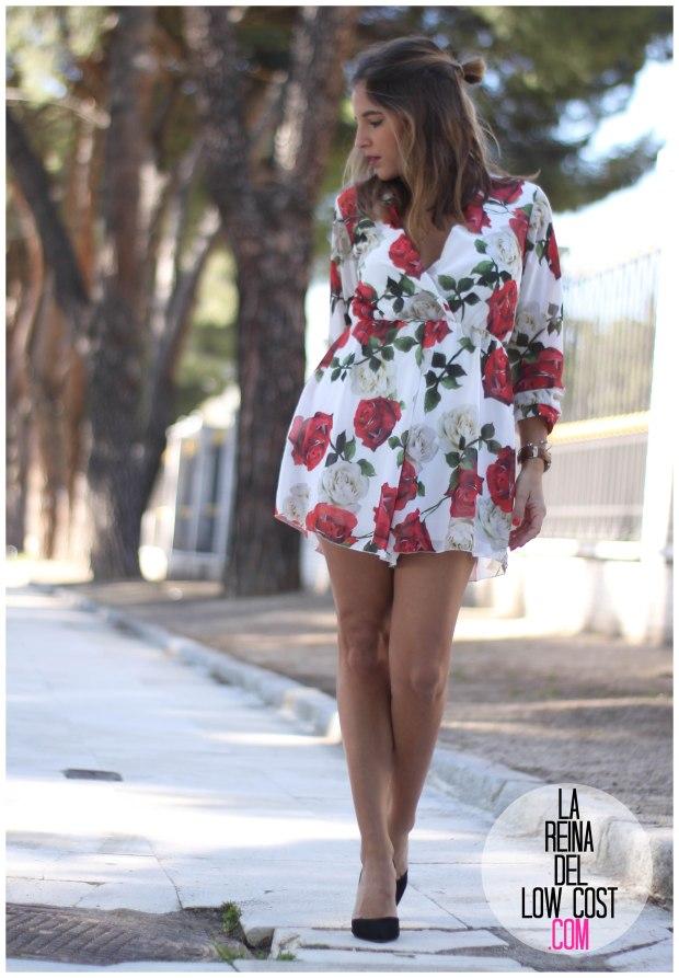la reina del low cost pilar pascual del riquelme mono flores rosas chollomoda tienda online ropa barata look comuniones 2016 graduaciones becas look cena primavera verano (6)