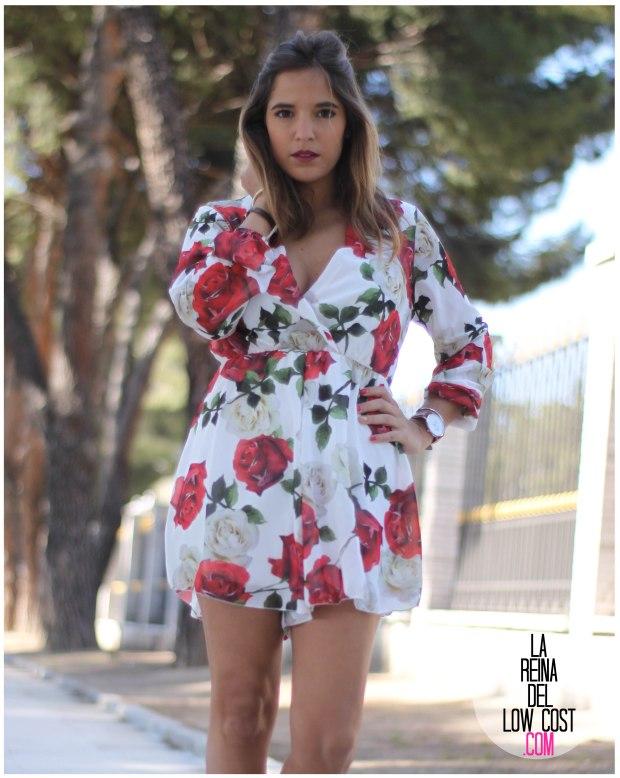 la reina del low cost pilar pascual del riquelme mono flores rosas chollomoda tienda online ropa barata look comuniones 2016 graduaciones becas look cena primavera verano (8)