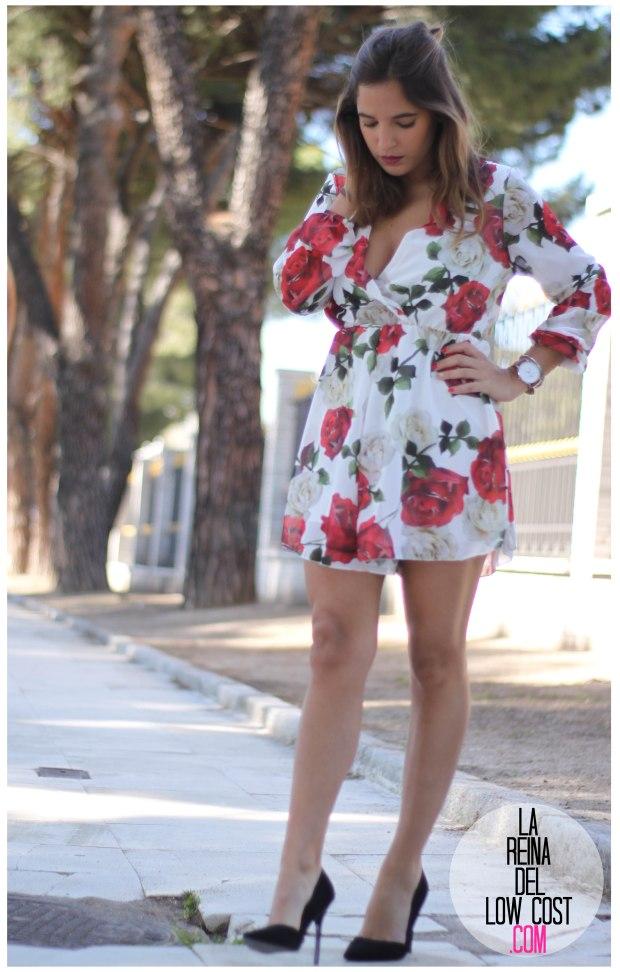 la reina del low cost pilar pascual del riquelme mono flores rosas chollomoda tienda online ropa barata look comuniones 2016 graduaciones becas look cena primavera verano (9)
