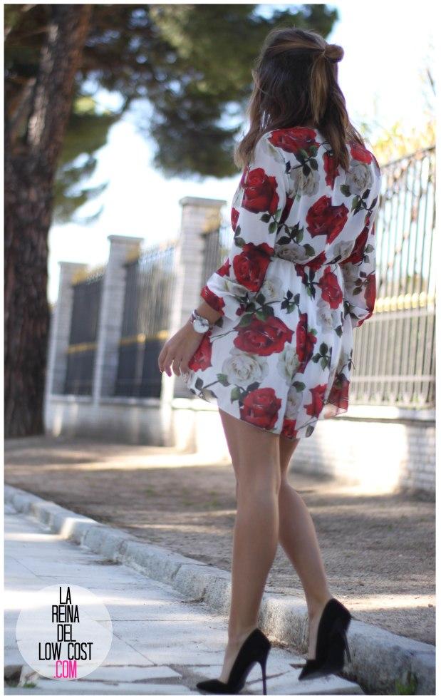 la reina del low cost pilar pascual del riquelme mono flores rosas chollomoda tienda online ropa barata look comuniones 2016 graduaciones becas look cena primavera verano