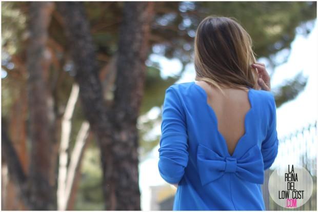 la reina del low cost pilar pascual del riquelme blogger mexico cancun madrid españa española vestido espalda al aire lazo azul klein venca.es opiniones sandalias imitacion inspiracion aquazzura lourdes moreno bodas bautizos comuniones oficina primavera verano 2016 total look outfit estilo