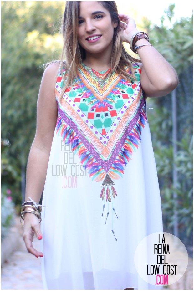la reina del low cost blog de moda españa mexico vestido etnico estampado blanco gasa verano 2016 primavera efecto collar m&l moda y complementos miryam alicante madrid pilar pascual del riquelme (2)