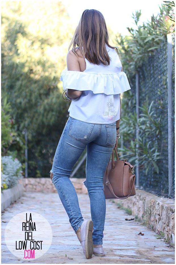 la reina del low cost camisa con volantes vaqueros rotos pull&bear adela gil espardeñas bolso primark online tienda miryam m&l moda y complementos facebook pilar pascual del riquelme (2)