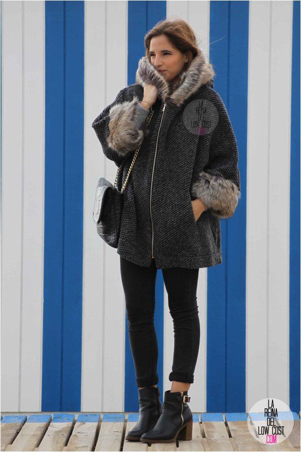 la reina del low cost blog blogger style outfit playa san juan alicante m&l moda y complementos minona clares jersey lana abrigo pelo gris marengo primark botines negros tacon mulaya vaqueros skinny ajustados gris oscuro bolso roberto verino blogger españa madrid mexico cancun